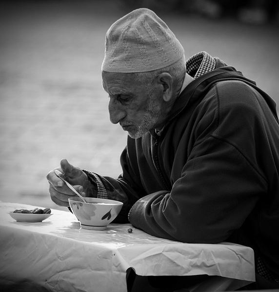Enjoying Soup In Jemaa l-Fna by urdygurdy