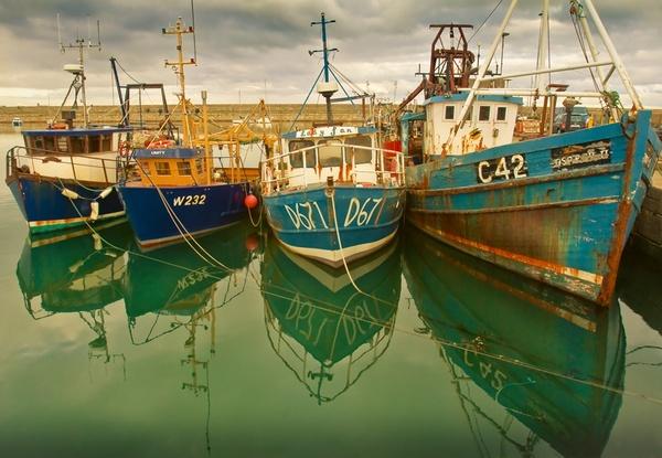 Dun LAohaire\'s fishboats by OVrtnarHigi