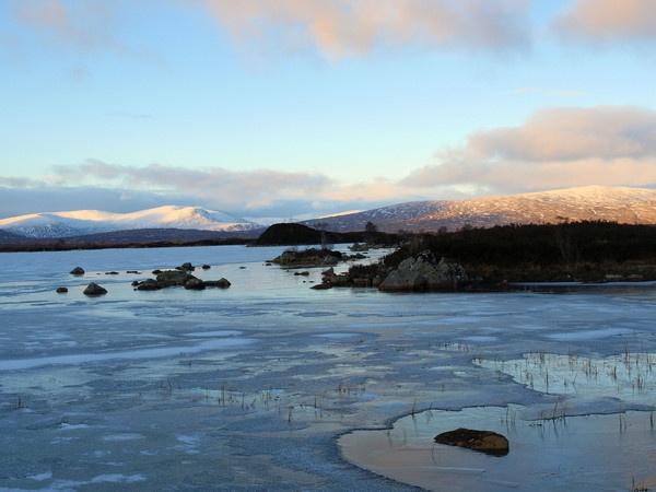 Frozen Rannoch Moor by HMac