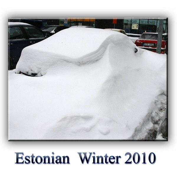 My Car under Snow, in Estonia by irish