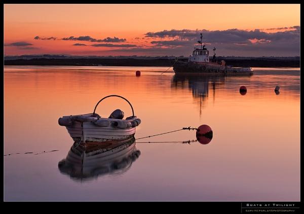Boats At Twilight by garymcparland