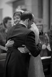 You may hug the bride