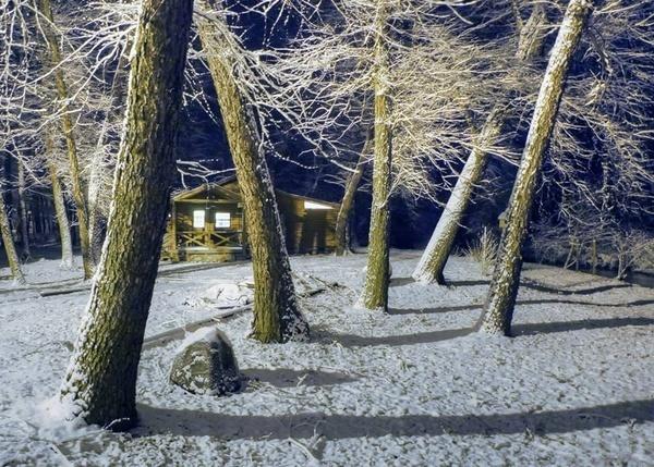 Snow at night by jbsaladino