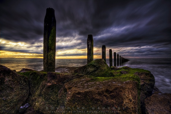 Rhuddlan Groynes by andy210966