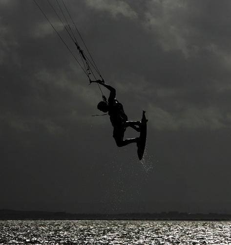 Kite Surfing by teddy