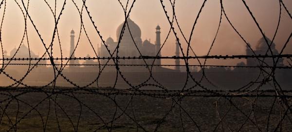Taj Mahal from River Yamuna by GrahamBaines