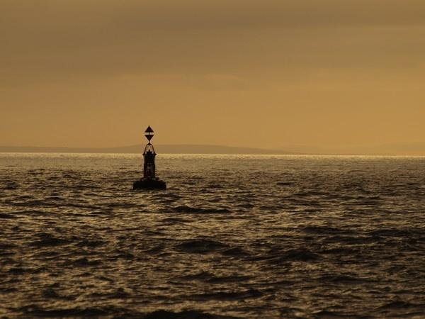 Buoy at Sunset by expatscot