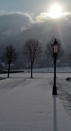 First light on fresh snow