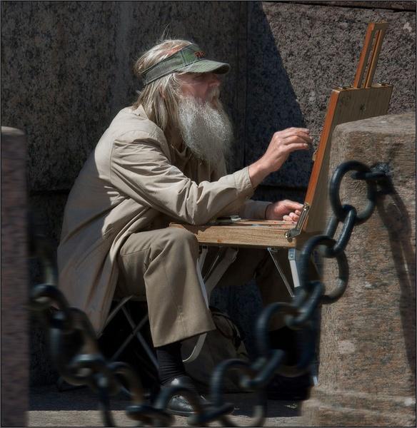 Old artist by IgorDrankin