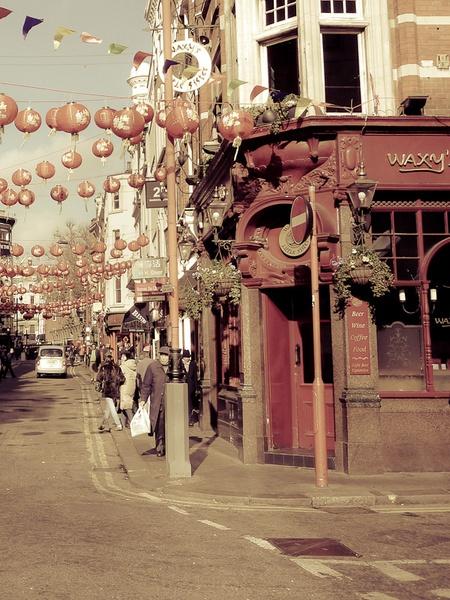Street corner - London Soho by andywest