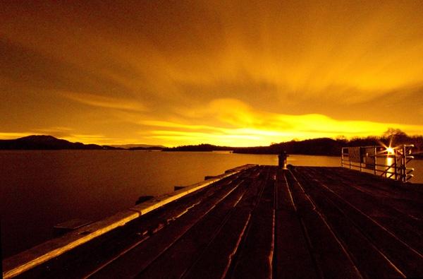 Golden hour in Luss by birgit