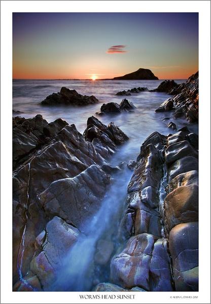 Worms Head Sunset by Tynnwrlluniau