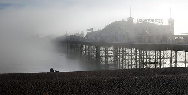 Foggy seaside by MarcPK