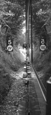 Reflection on Train Window 2 by lev93