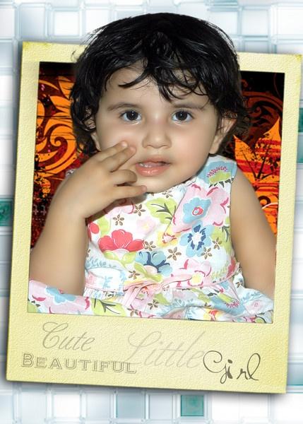 My cute little girl by shahbaz