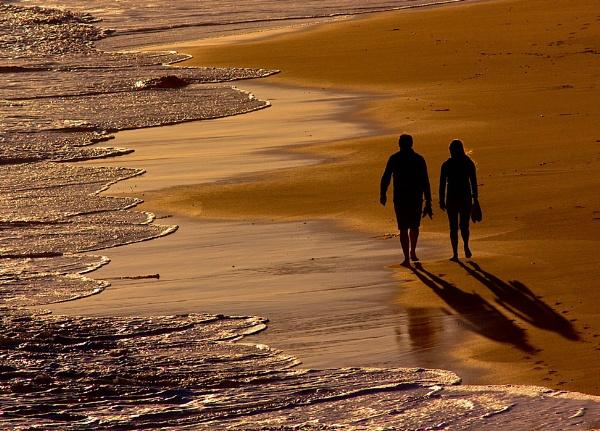 Beach Walk by Davesumner