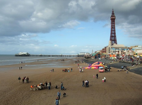 Blackpool beach by Toonman