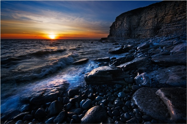 Sundown at Dunraven Bay by BillyGoatGruff