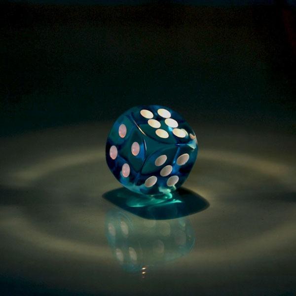 Blue Dice by WOZZERHART