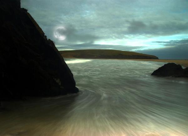 Full Moon Over St.Ninians Isle by gazb159