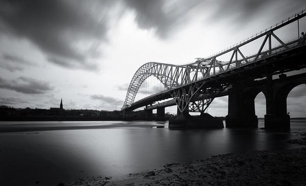Runcorn Bridge by mikespriggs