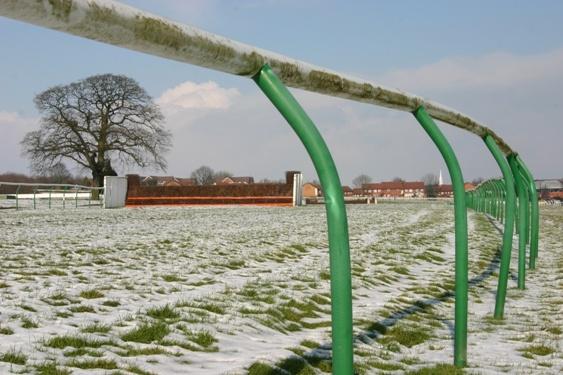 Snowy Warwick Racecourse by chrisvannamen