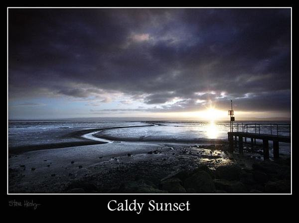 Caldy Sunset by lensman