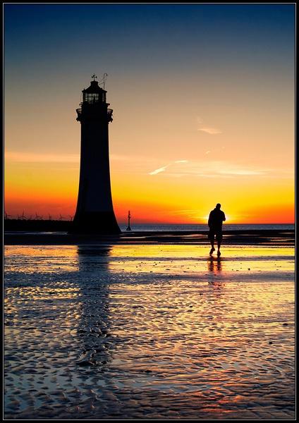 New Brighton Sunset by Anthony