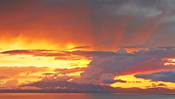 Arran Sunset by trekpete
