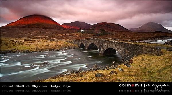 Sunset Shaft at Sligachan Bridge, Skye by BigCol