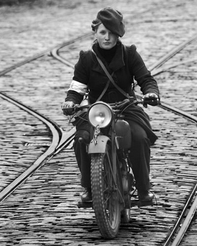 Woman on bike by young_al