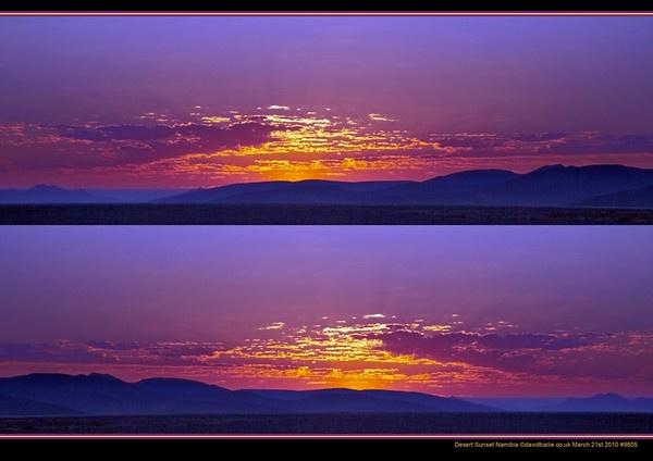 Desert Sunset by davidbailie