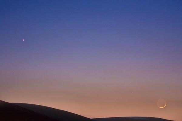 Venus, Mercury and fingernail Moon by barral
