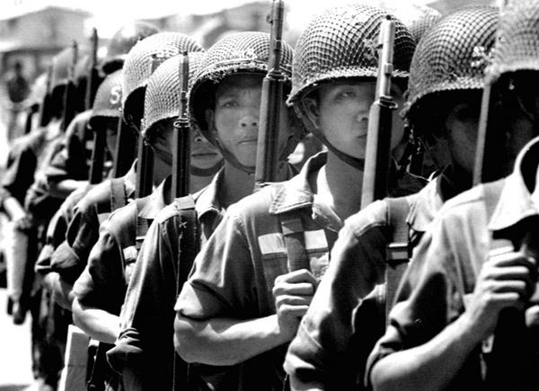 Vietnamese Army soldiers by Aldo Panzieri
