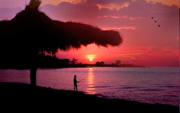 Island Sunset by telstar500