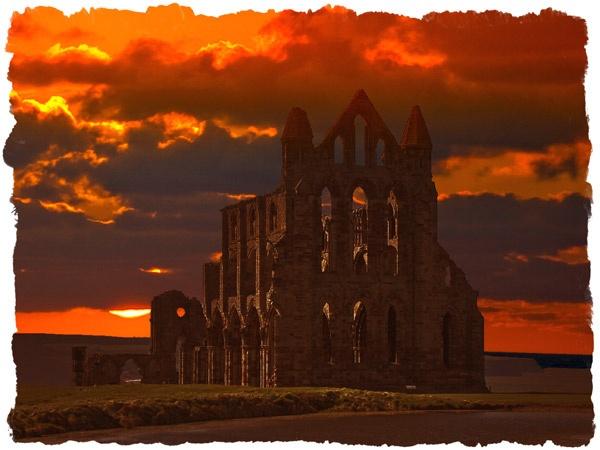 Whitby Abbey in Sunset by telstar500