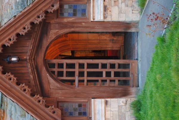 Church door at dusk by magicman