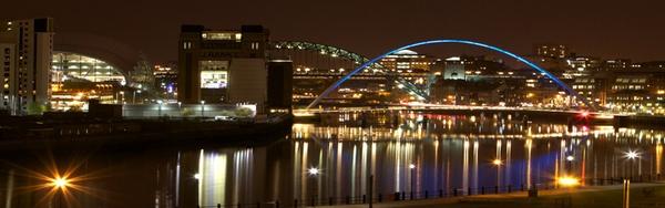 Newcastle night view by coxy