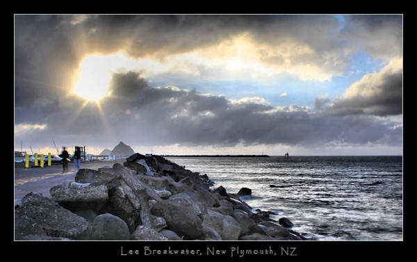Lee Breakwater, New Plymouth, Port Taranaki, New Zealand by SteveNZ