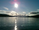 The sun of Loch Ness