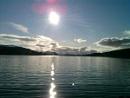 The sun of Loch Ness