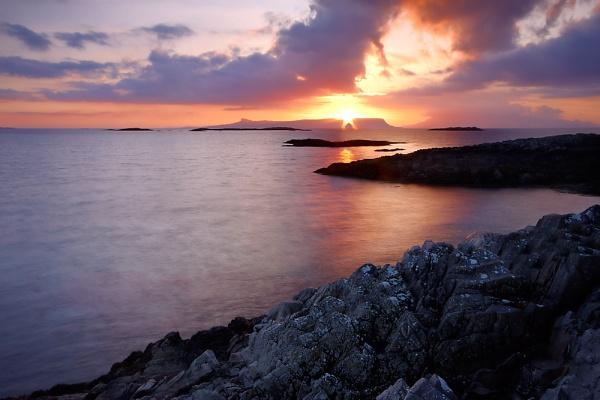 Evening Light Over Eigg by cdm36