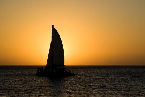 Silohette at sunset by wheeldon