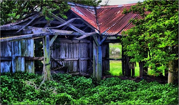 Corner Ruined Barn by ringyneck