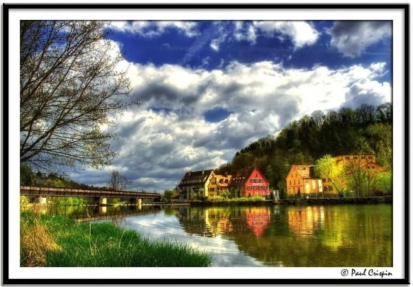 Rail Bridge Over the River by ducatirider