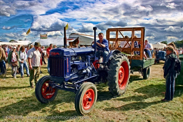 Fordson tractor_Painting5 by Phil_Bird
