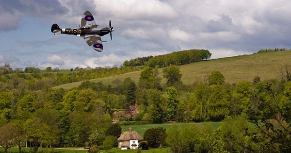 Spitfire on the Weald by Oliverpants