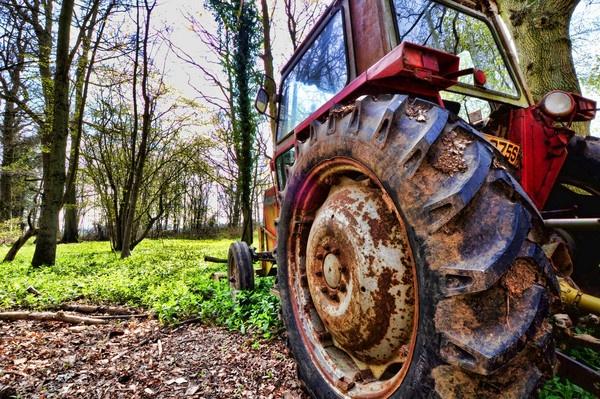 The Tractor\'s Massive Wheel by eSweeney
