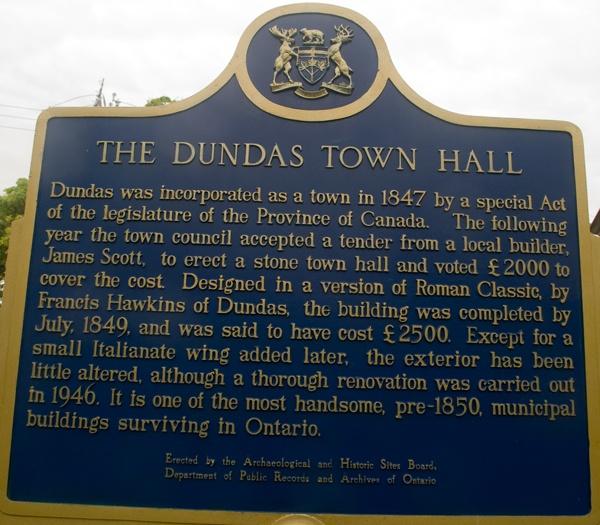 SIGN OF DUNDAS TOWN HALL by TimothyDMorton