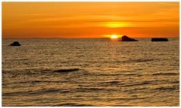 Sunset on Ayrshire coast